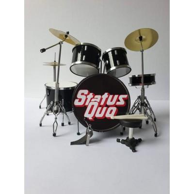 Status Quo Miniature Drum kit
