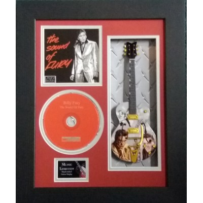 "Billy Fury The Sound Of Fury Miniature 10"" Guitar & CD/Sleeve Framed Presentation"