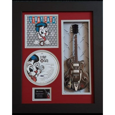 "Stray Cats 40 Miniature 10"" Guitar & CD/Sleeve Framed Presentation"