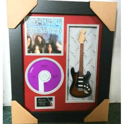 "Deep Purple Miniature 10"" Guitar & CD/Sleeve Framed Presentation"
