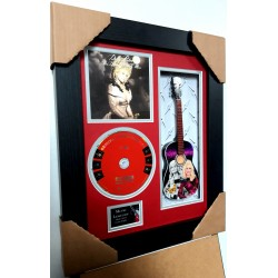 "Dolly Parton Miniature 10"" Guitar & CD/Sleeve Framed Presentation"