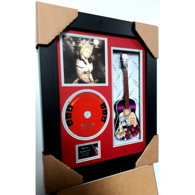 "Dolly Parton Miniature 10"" Guitar & CD/Sleeve Framed Presentation"