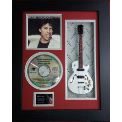 "George Thorogood Bad To The Bone Miniature 10"" Guitar & CD/Sleeve Framed Presentation"