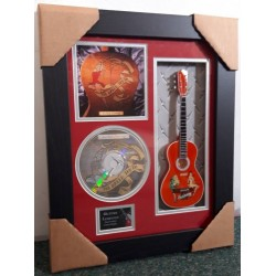 "Golden Earring Miniature 10"" Guitar & CD/Sleeve Framed Presentation"