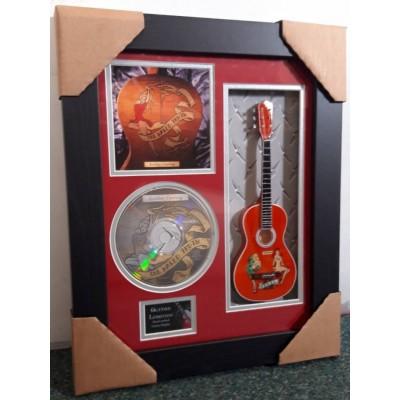 "Golden Earring Miniature 10"" Guitar & CD/Sleeve Framed Presentation"