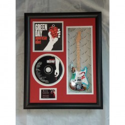 "Green Day Miniature 10"" Guitar & CD/Sleeve Framed Presentation"