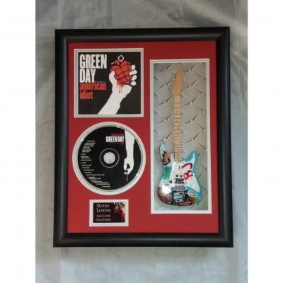"Green Day Miniature 10"" Guitar & CD/Sleeve Framed Presentation"