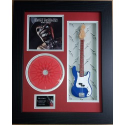 "Iron Maiden Miniature 10"" Guitar & CD/Sleeve Framed Presentation"