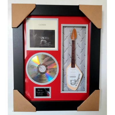 "Joy Division Closer Miniature 10"" Guitar & CD/Sleeve Framed Presentation"