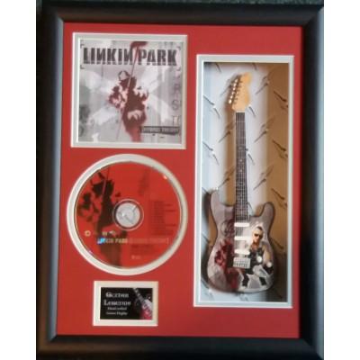 "Linkin Park Miniature 10"" Guitar & CD/Sleeve Framed Presentation"