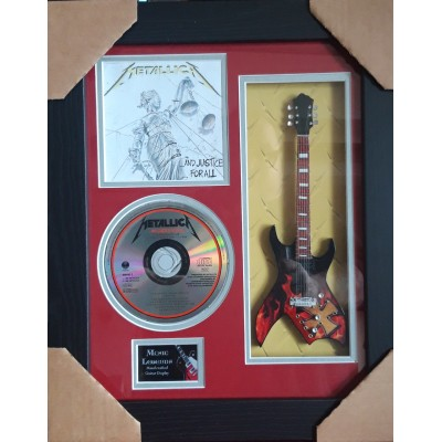 "Metallica Kill 'Em All Miniature 10"" Guitar & CD/Sleeve Framed Presentation"