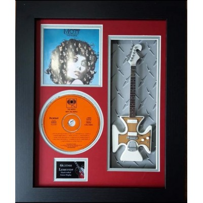 "Mott The Hoople  Miniature 10"" Guitar & CD/Sleeve Framed Presentation"
