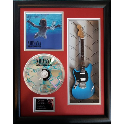 "Nirvana Nevermind Miniature 10"" Guitar & CD/Sleeve Framed Presentation"