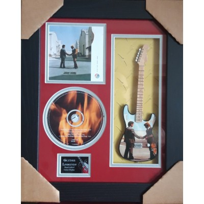 "Pink Floyd Wish You Were Here Miniature 10"" Guitar & CD/Sleeve Framed Presentation"
