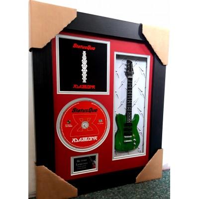 "Status Quo Miniature 10"" Guitar & CD/Sleeve Framed Presentation"