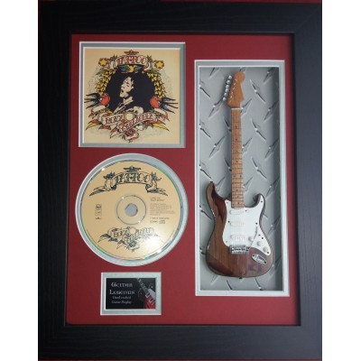 "Rory Gallagher Tattoo Miniature 10"" Guitar & CD/Sleeve Framed Presentation"