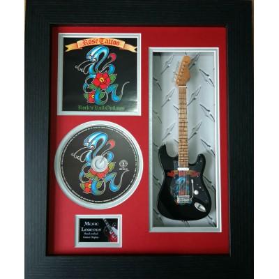 "Rose Tattoo Miniature 10"" Guitar & CD/Sleeve Framed Presentation"