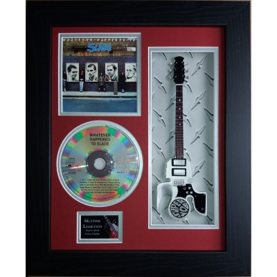"Slade Whatever Happened To..Miniature 10"" Guitar & CD/Sleeve Framed Presentation"
