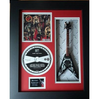 "Slayer Kerry King Miniature 10"" Guitar & CD/Sleeve Framed Presentation"