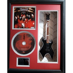 "Slipknot Miniature 10"" Guitar & CD/Sleeve Framed Presentation"
