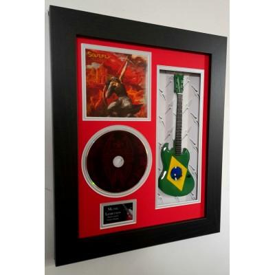 "Soulfly Miniature 10"" Guitar & CD/Sleeve Framed Presentation"
