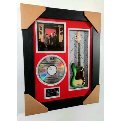 "Stranglers (The) Miniature 10"" Guitar & CD/Sleeve Framed Presentation"