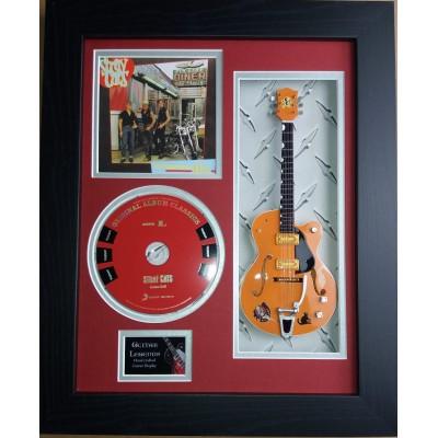 "Stray Cats Miniature 10"" Guitar & CD/Sleeve Framed Presentation"