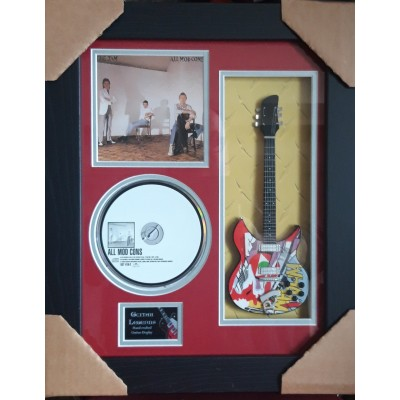 "The Jam All Mod Cons Miniature 10"" Guitar & CD/Sleeve Framed Presentation"