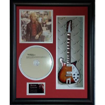 "Tom Petty Miniature 10"" Guitar & CD/Sleeve Framed Presentation"