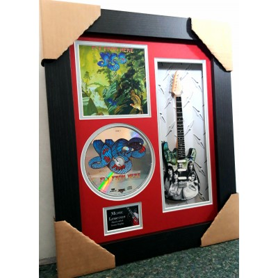 "Yes Fly From Here Miniature 10"" Guitar & CD/Sleeve Framed Presentation"
