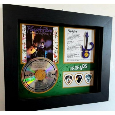 Prince 'Purple Rain' CD, Sleeve, Guitar and triple plec set