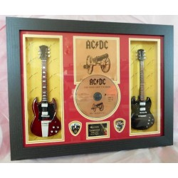 AC/DC For Those About To Rock...Double Mini Guitar, CD & Plectrum Presentation