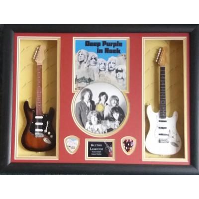 Deep Purple Double Mini Guitar, CD & Plectrum Presentation