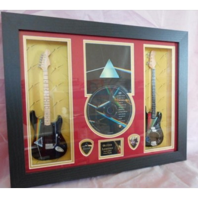 Pink Floyd DSOM Double Mini Guitar, CD & Plectrum Presentation