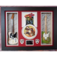 Status Quo Piledriver Double Mini Guitar, CD & Plectrum Presentation