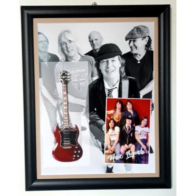 AC/DC Flat Metal Framed Guitar