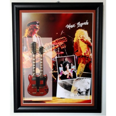Led Zeppelin Flat Metal Framed Guitar