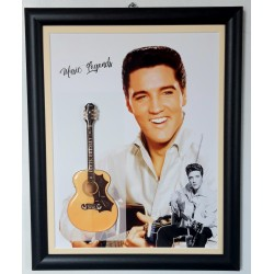 Elvis Presley Flat Metal Framed Guitar