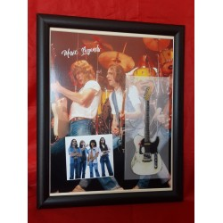 Status Quo Flat Metal Framed Guitar