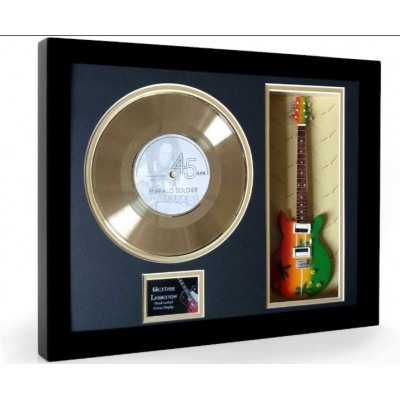 "Bob Marley Buffalo Soldier Gold Replica Vinyl and 10"" Miniature Guitar"