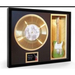 "Status Quo What Your Proposing Gold Replica Vinyl and 10"" Miniature Guitar"