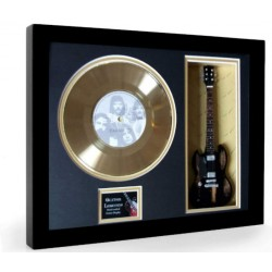 "Black Sabbath Paranoid Gold Replica Vinyl and 10"" Miniature Guitar"