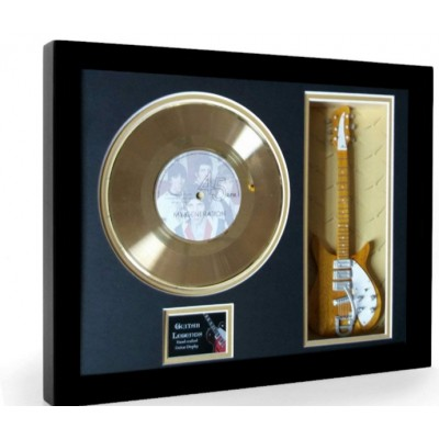 "The Who My Generation Gold Replica Vinyl and 10"" Miniature Guitar"