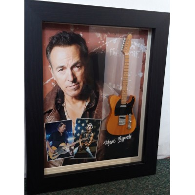Bruce Springsteen Framed Miniature Tribute Guitar