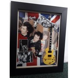 Sex Pistols Framed Miniature Tribute Guitar