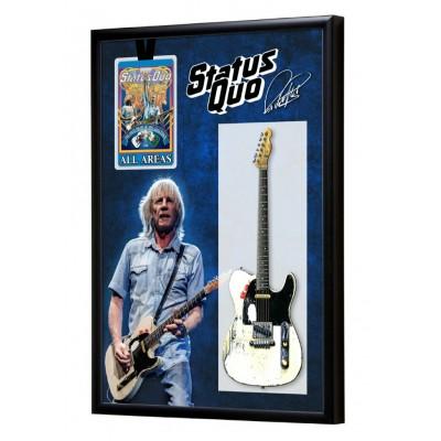 Rick Parfitt Guitar & Backstage Pass Display