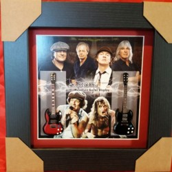 AC/DC Miniature Framed Guitar