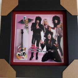 Motley Crue Miniature Framed Guitar