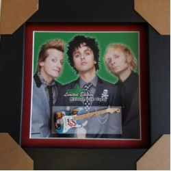 Green Day Miniature Framed Guitar Gene Vincent/Rockabilly/Gretsch