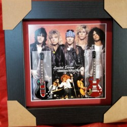 Guns & Roses Miniature Framed Guitar